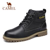 camel骆驼男鞋 秋冬新款舒适潮流休闲靴马丁靴皮质高帮靴子男靴