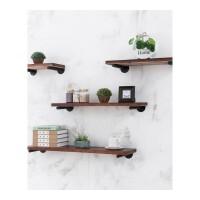墙上置物架一字隔板墙壁书架实木搁板客厅装饰架墙面壁挂置物层架