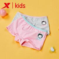 特步女童运动内裤套装卡通四角裤柔软短裤儿童宝宝平角内裤两件装682334129005