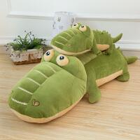 鳄鱼软体睡觉抱枕毛绒玩具儿童羽绒棉河马公仔布娃娃玩偶生日礼物
