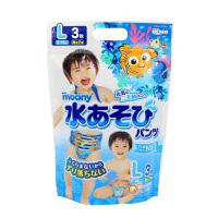 【澳门直购】日本尤妮佳Moony游泳纸尿裤 防水尿不湿 男宝M码3片(7-10kg)