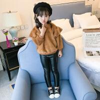女童童装卫衣绒衫01秋新款韩版娃娃衫加厚毛毛衣中大童打底