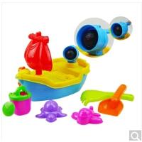 玩沙戏水桌儿童沙滩玩具套装海盗船沙水桌玩沙玩水游戏桌