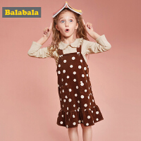【满减参考价:79.67】巴拉巴拉童装儿童套装女童秋装新款宝宝两件套灯芯绒裙子T恤
