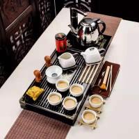 功夫茶具套装家用整套简约实木茶盘茶壶祥龙雪花小兰香二合一套装