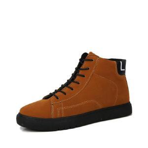 罗兰船长  休闲男靴子潮流运动休闲时尚板鞋 D