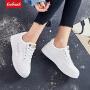 【新春惊喜价】Coolmuch女士轻便百搭心电图小白鞋校园女生松糕底休闲板鞋YCS10