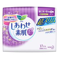 【日本进口】花王乐而雅(laurier)F透气棉柔特薄超长量特多日用卫生巾25cm17片 单包装(新老包装随机发货)