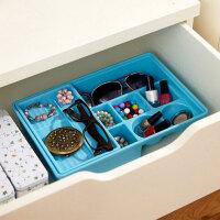 炫彩易分类双层抽屉收纳盒塑料桌面双层抽屉整理盒 抽屉式储物盒子