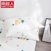 纯棉枕套一对装棉枕芯套子枕头套48*74单人信封式设计 48cmX74cm
