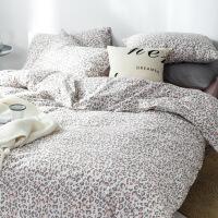 商场同款四件套棉简约纯棉床单被套1.8米床品学生宿舍三件套1.5m