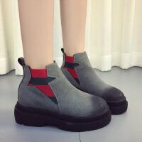 2018春季新款女士短靴复古马丁靴厚底英伦时尚平底潮流女靴子CF LH-5519