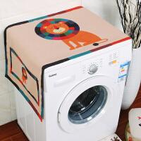 棉麻滚筒洗衣机床头柜盖布盖巾单开门冰箱罩微波炉布艺防尘