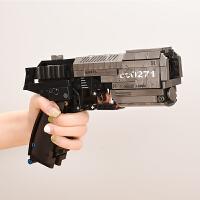 2019新款积木枪兼容乐高积木流浪地球信号枪可发射男孩子拼装玩具