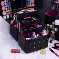 韩国大容量多层化妆师化妆包女便携旅行手提收纳化妆箱护肤品纹绣化妆盒