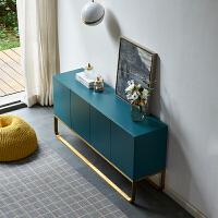 北欧意式轻奢现代简约设计师创意储物柜 小户型卧室电视柜 餐边柜 蓝色 整装