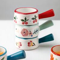 光一��ins意咖啡加奶杯北�W��性家用�W小容量碗�t餐具��手柄陶瓷奶盅