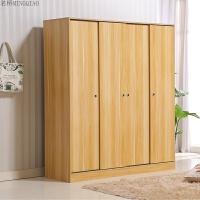 简易板式衣柜推拉门经济型23门4门卧室简约现代移门定制木质衣橱
