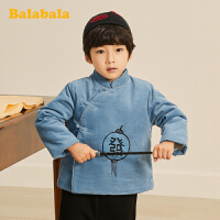 巴拉巴拉儿童套装男童宝宝童装秋冬2019新款小童两件套加绒中国风