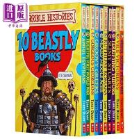 【中商原版】Horrible Histories: Ten Beastly Books Box Set 可怕的历史10册