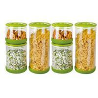[当当自营]居元素 爱娜 密封储藏罐六件套(全绿)N97214010