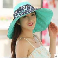 户外女帽遮阳帽子女夏防晒帽遮阳凉帽防紫外线韩版潮可折叠沙滩太阳帽