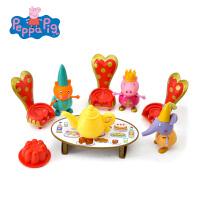 小猪佩奇peppapig粉红猪小妹佩佩猪女孩过家家玩具城堡茶聚套装