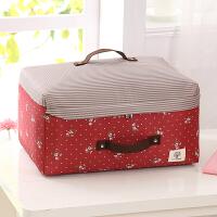 新品可洗衣物收纳袋整理袋储物袋棉被收纳袋收纳箱整理箱 蔷薇花(红底白花)