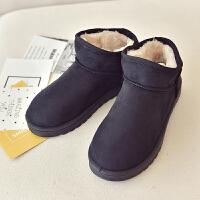 网红雪地靴女中短筒鞋子可爱棉鞋女冬季2018新款加绒学生韩版百搭