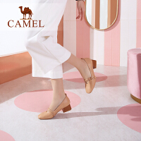 骆驼女鞋2019新款鞋子春季粗跟舒适休闲鞋英伦风粗跟玛丽珍女单鞋