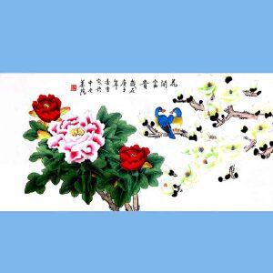 北京著名工笔画家,北京市美协会员,北京九久书画收藏文化交流中心画家凌雪(花开富贵)2