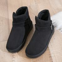2018新棉鞋女冬季保暖加绒韩版百搭学生情侣面包鞋短筒雪地靴女鞋