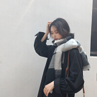 韩版情侣围巾冬季加长软毛线围巾女百搭加厚秋冬季韩版围脖男学生