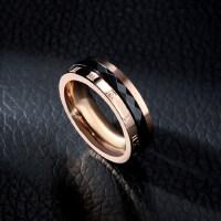 韩版玫瑰金复古黑色罗马情侣戒指女对戒尾戒食指关节戒指环