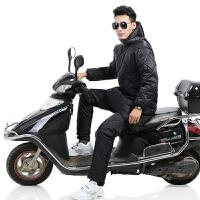 云博冬季摩托车挡风被挡风衣批发 新款连体摩托车挡风罩加厚护膝保暖