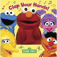 英文原版 芝麻街:拍拍手 趣味手偶书 Clap Your Hands! (Sesame Street)