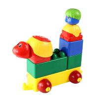 乐哈哈儿童塑料拼插拼装桌面积木玩具3岁以上12粒