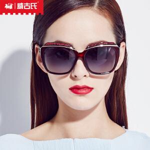 威古氏太阳镜女 金属线形款墨镜优雅新款女士偏光太阳镜9080
