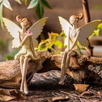吊脚娃娃摆件 欧式田园天使树脂创意家居饰品女生卧室房间装饰品
