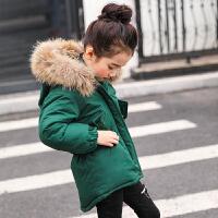 女童棉衣2017新款装韩版中大童羽绒棉短款加厚燕尾收腰外套
