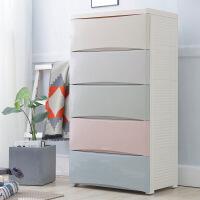 塑料五斗柜宝宝衣柜儿童抽屉式收纳柜子婴儿置物多层整理箱