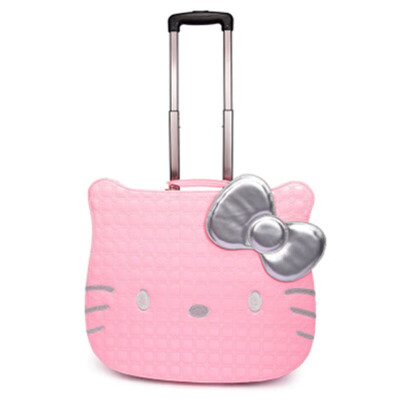 拉杆箱万向轮儿童旅行箱学生行李箱女可爱登机箱皮箱  18寸