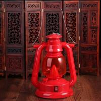 婚庆结婚灯笼复古马灯风灯大红灯笼充电手提干电池野营灯LED灯头