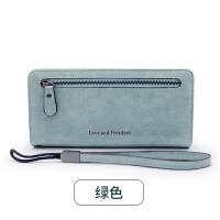 ?女士手拿钱包女长款韩版潮个性小清新折叠拉链多功能皮夹?