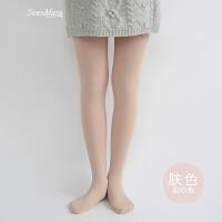 900D日系收腿显瘦美腿袜加绒加厚连裤袜子秋冬女打底袜肉色麻灰色 均码