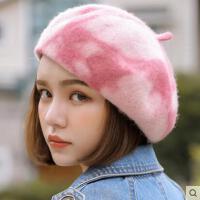 贝雷帽女网红同款时尚韩版潮百搭羊毛呢薄款日系八角帽英伦画家蓓蕾帽子户外运动新品