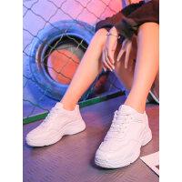 网红女鞋子潮学生小白鞋老爹鞋女韩版百搭加绒运动鞋