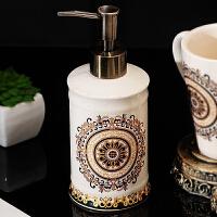 陶瓷卫生间洗漱套装情侣漱口杯香皂盒浴室刷牙杯 欧式卫浴五件套