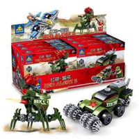 红色警戒积木玩具拼装儿童3-6周岁益智男生7岁8岁9岁10岁12岁