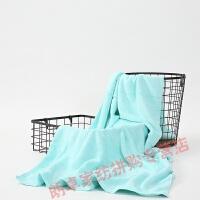 车上浴巾家政多用家用绿色沐浴巾车上儿童大毛巾洗脸薄款轻薄